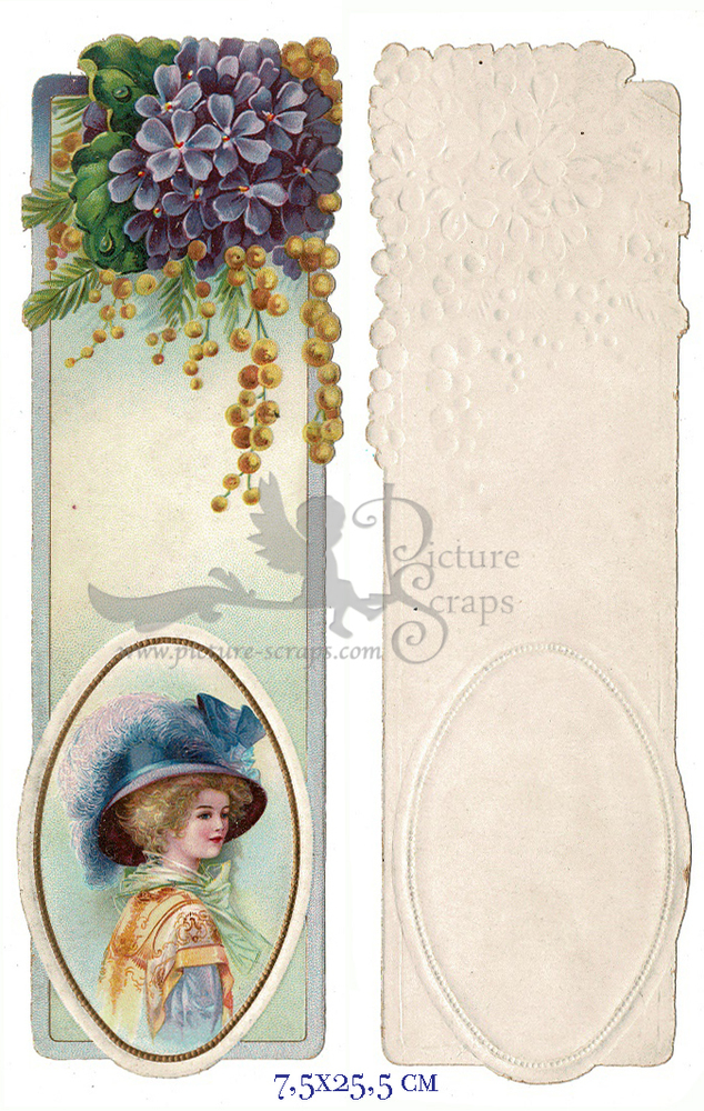 Large card vintage bookmark 1