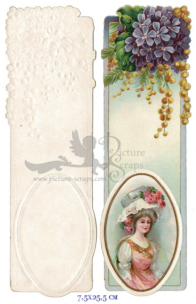Large card vintage bookmark 4