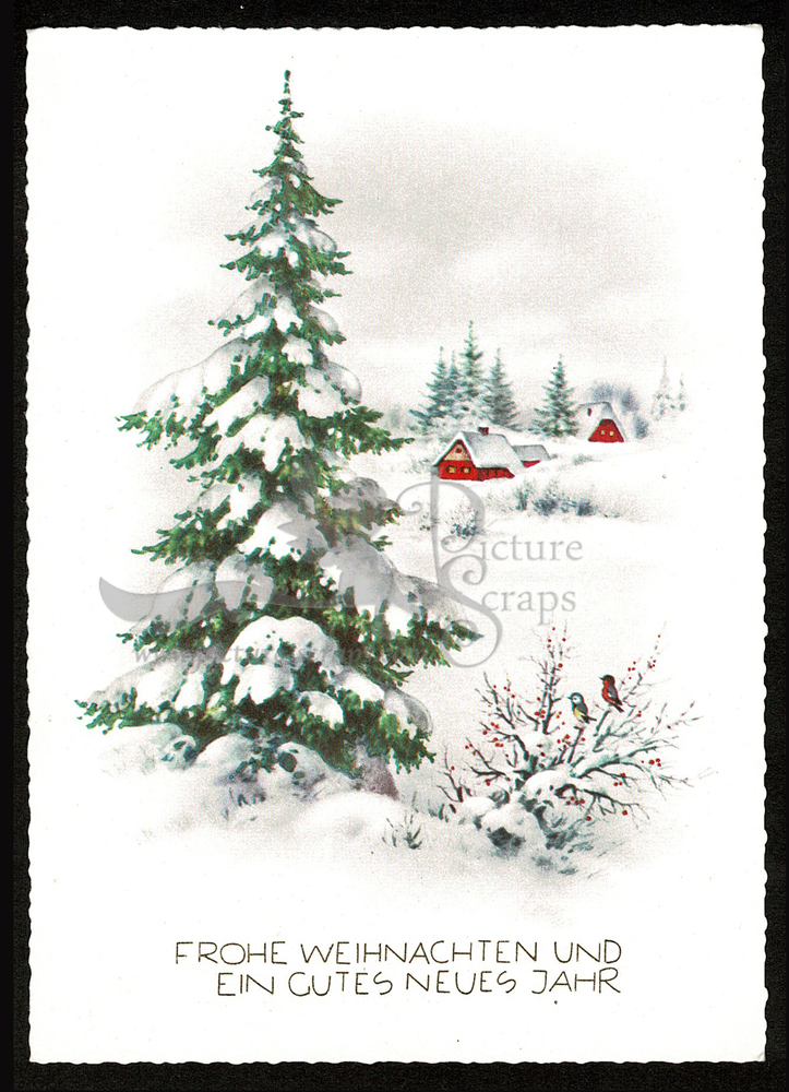 Large postcard haco 0374 rural winter