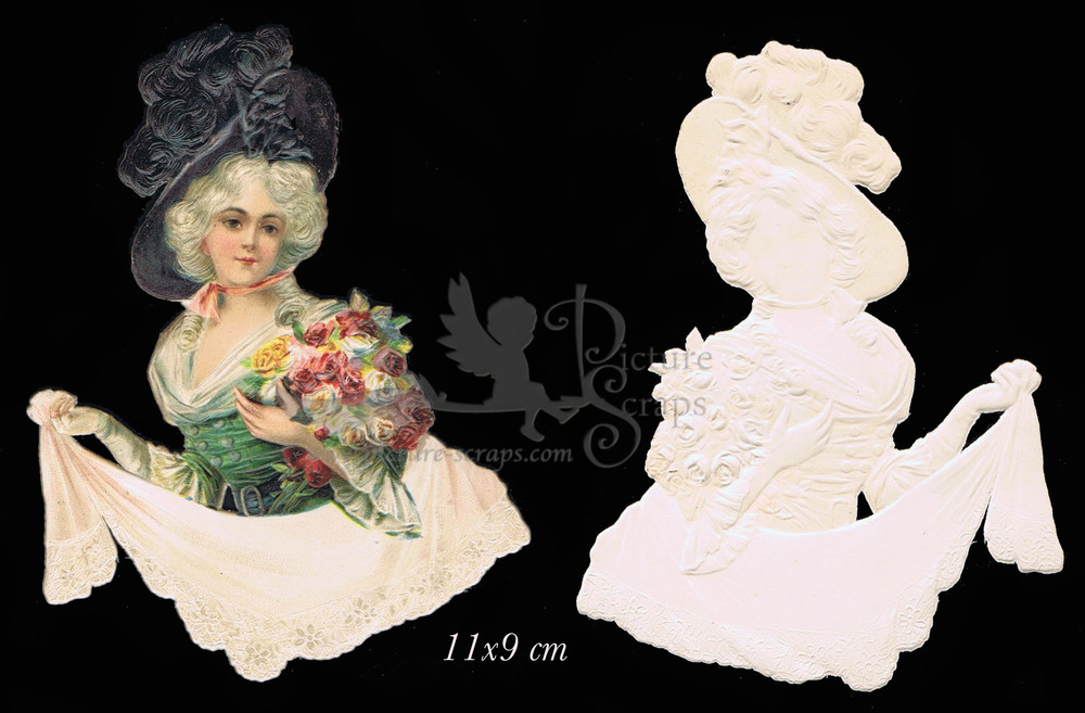 Large single scrap victorian lady 1
