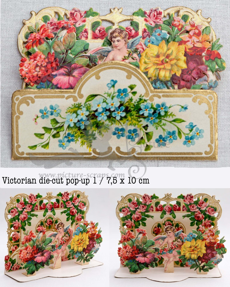 Large pop up victorian pop up die cut 1