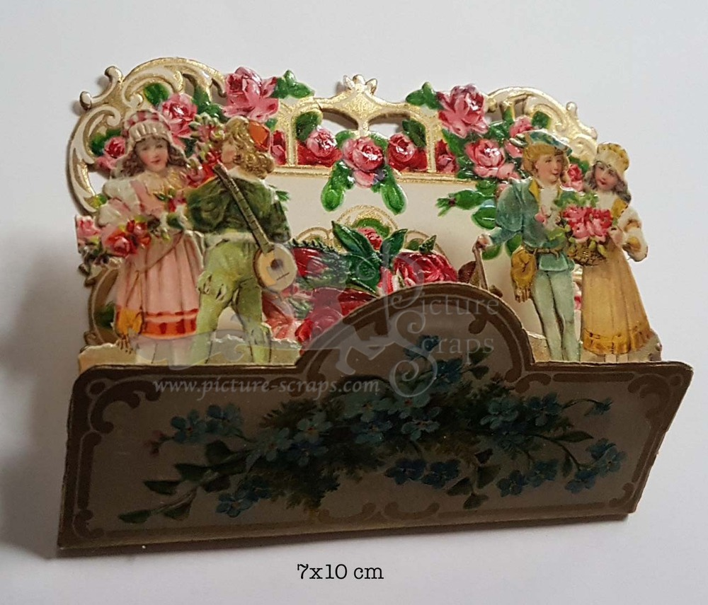 Large pop up victorian pop up die cut 10
