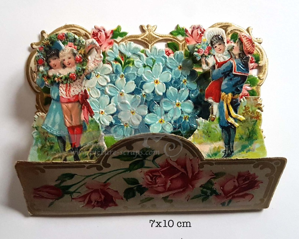 Large pop up victorian pop up die cut 11