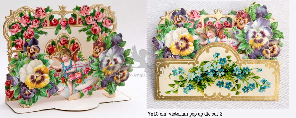 Large pop up victorian pop up die cut 2