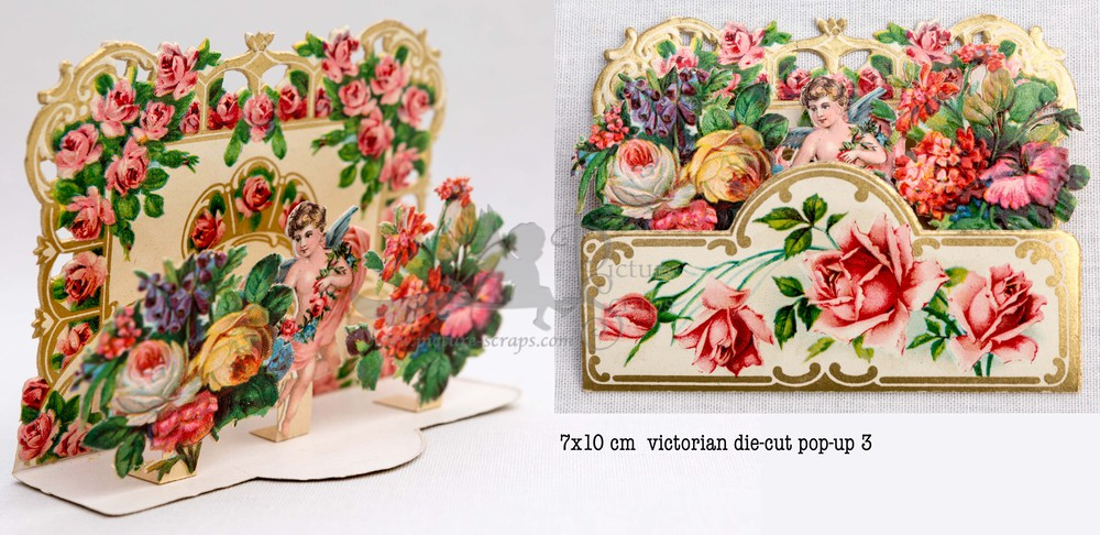 Large pop up victorian pop up die cut 3