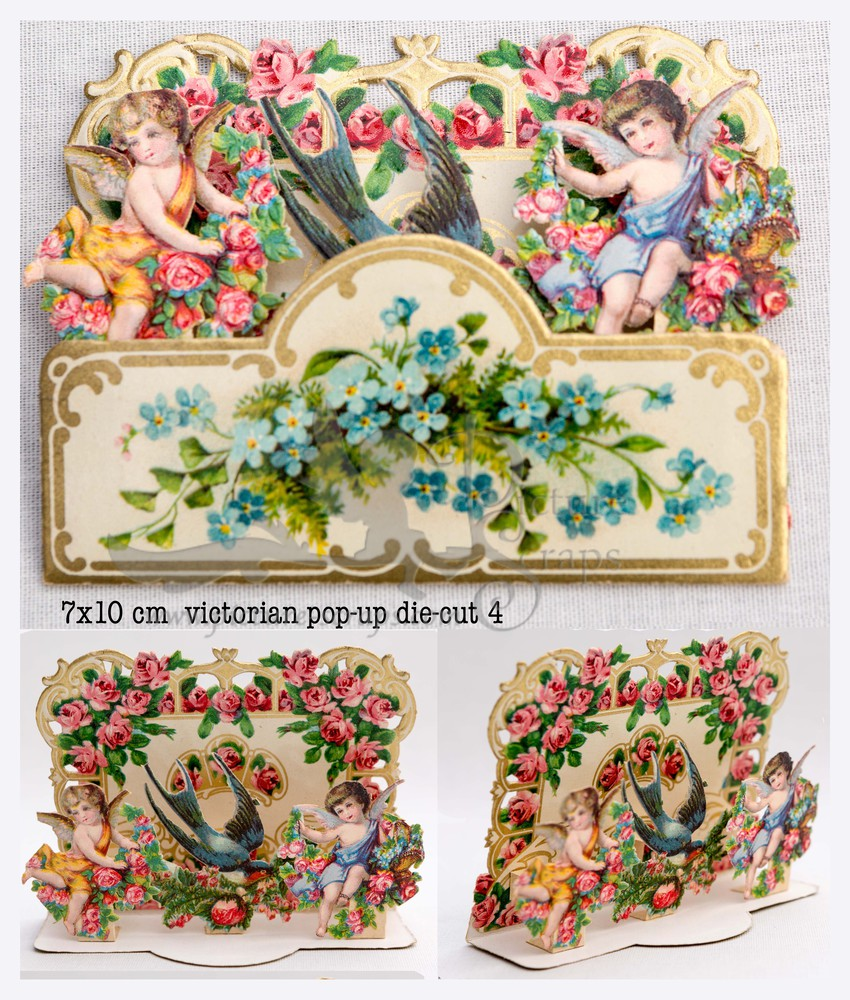 Large pop up victorian pop up die cut 4