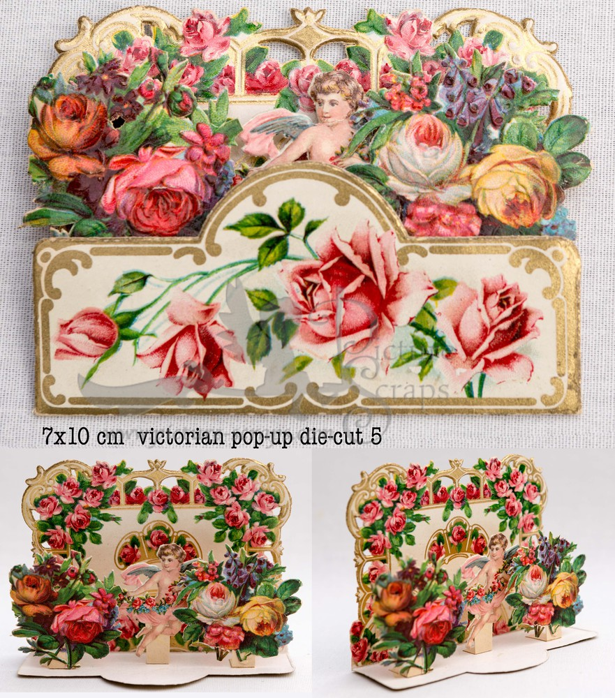 Large pop up victorian pop up die cut 5