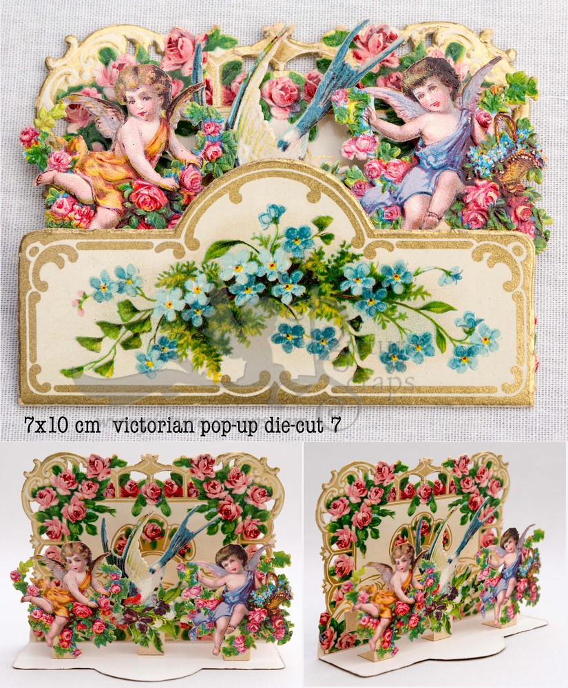 Large pop up victorian pop up die cut 7
