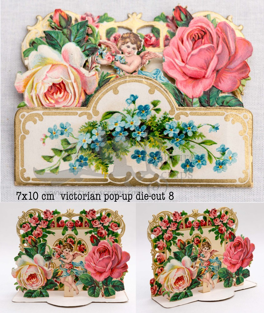 Large pop up victorian pop up die cut 8