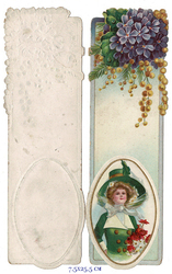 Small card vintage bookmark 3