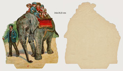 Small large scrap 6 children on elephant
