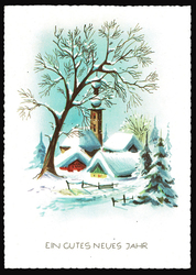 Small postcard haco 0373 c winter landscape