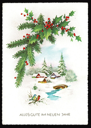 Small postcard haco 0377 christmas winter rural