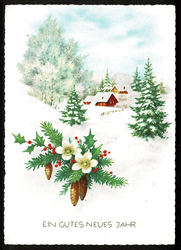 Small postcard haco 0377 winter christmas