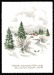 Small postcard haco 0441 winter landscape