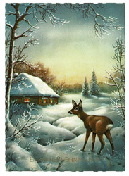 Small postcard haco deer a