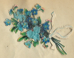 Small silk scraps flowers 10