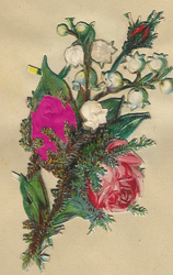 Small silk scraps flowers 54 1921
