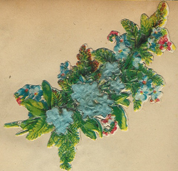 Small silk scraps flowers 60 1921