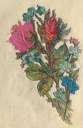 Small silk scraps flowers 61.1929