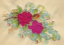 Small silk scraps flowers 64.1931