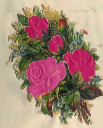 Small silk scraps flowers 65.1928