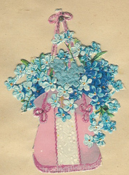 Small silk scraps flowers 68.1931
