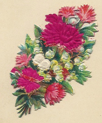 Small silk scraps flowers 7