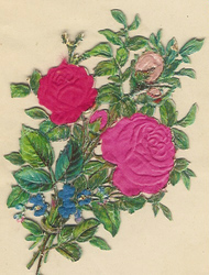 Small silk scraps flowers 70 1921