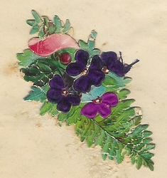 Small silk scraps flowers 72 1938