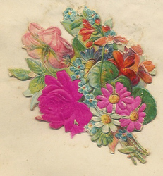Small silk scraps flowers 73 1938