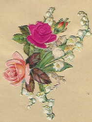 Small silk scraps flowers 75 1908