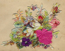 Small silk scraps flowers 76 1928