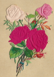 Small silk scraps flowers 83 1910
