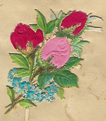 Small silk scraps flowers 84 1910