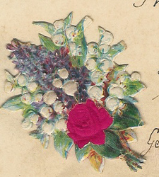 Small silk scraps flowers 85 1933