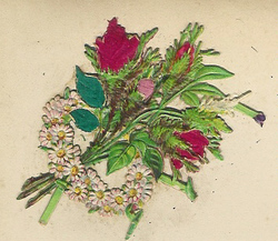 Small silk scraps flowers 9