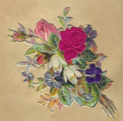 Small silk scraps flowers 98 1927