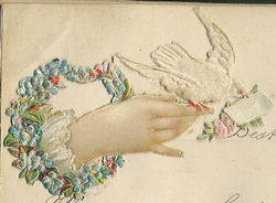 Small silk scraps hand and flowers 1 1891