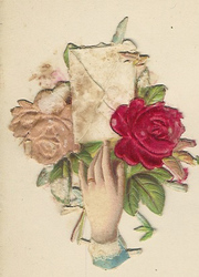 Small silk scraps hand and flowers 1891