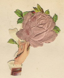 Small silk scraps hand and flowers 2 1891