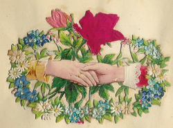 Small silk scraps hand and flowers 47.1913
