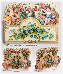Small pop up victorian pop up die cut 4