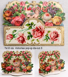 Small pop up victorian pop up die cut 5