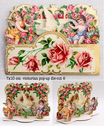 Small pop up victorian pop up die cut 6