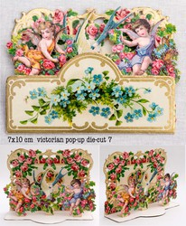 Small pop up victorian pop up die cut 7