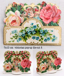 Small pop up victorian pop up die cut 8