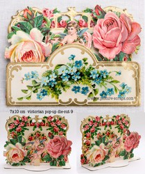 Small pop up victorian pop up die cut 9